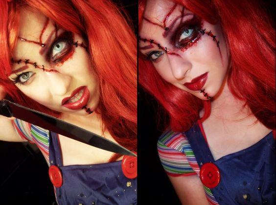 Chucky girl Halloween makeup | Holloween costumes! | Pinterest ...
