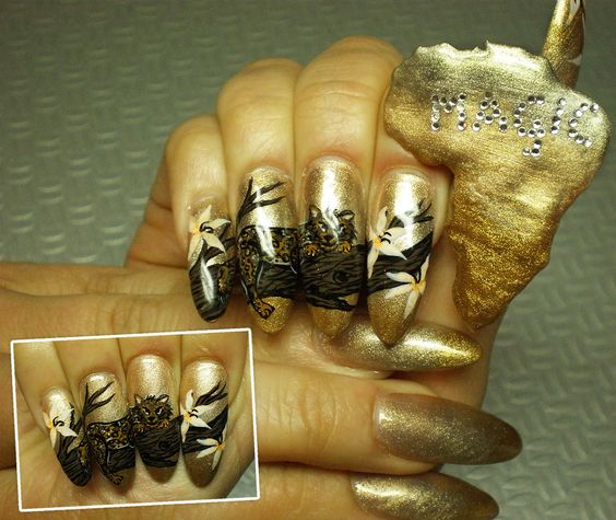 africa nail art