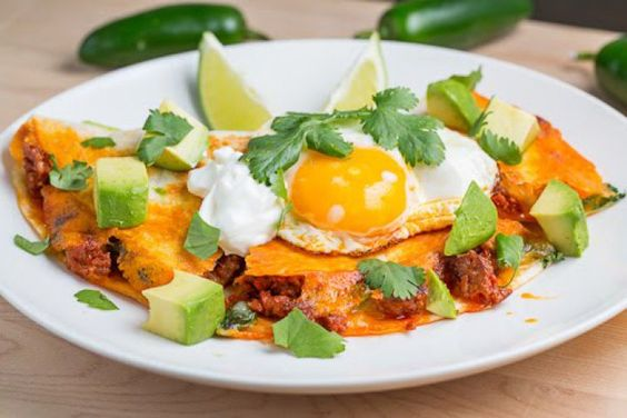 Breakfast Chorizo Quesadilla Topped with a Fried Egg Recipe | food ...