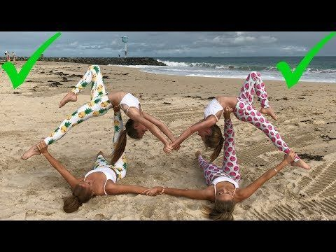 Extreme Yoga Challenge Big Sisters Vs Little Sisters The Rybka Twins What Ana And Kevin Are Doing In The Yoga Challenge Yoga Poses For Two Gymnastics Poses