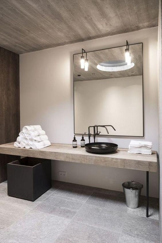 Les 16 meilleures images à propos de Miroir salle de bain sur - salle de bain meuble noir