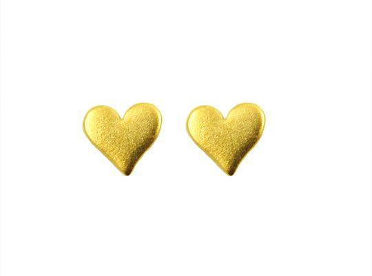 hart oorbellen goud | InTu jewelry design with meaning