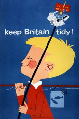 Keep #Britain Tidy, campaign poster c.1960s Catalogue reference: EXT 1/121. The National Archives.: