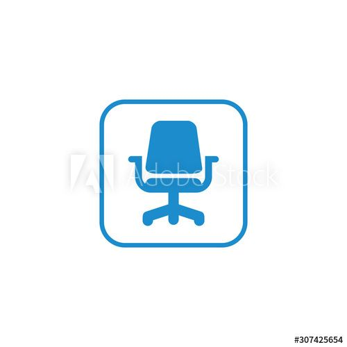 Office Chair Icon Vector Design Symbol Ad Icon Chair Office Symbol Design Ad In 2020 Graphic Design Branding Vector Design Graphic Design Layouts