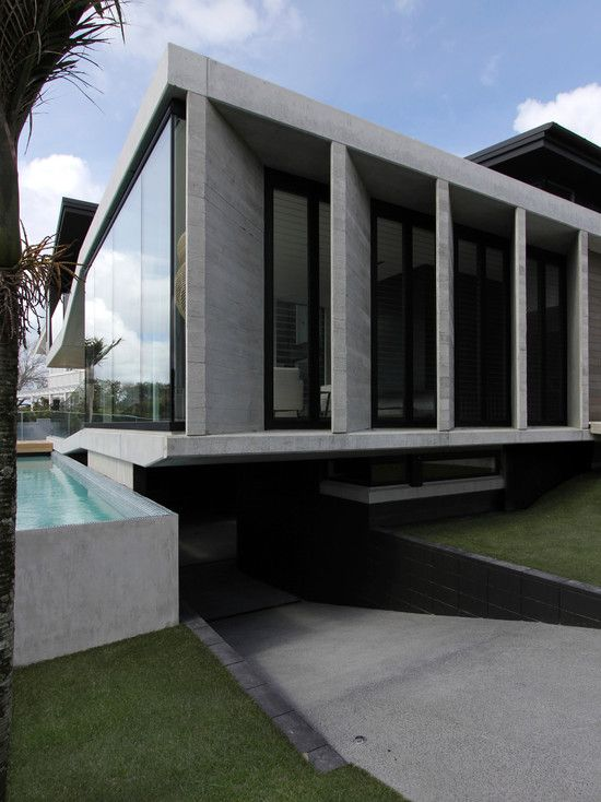 Underground Residential Garage #21: Stunning Bay House Design; Luxurious Home Living: Modern Exterior Design Herne Bay House Underground Garage   Modern Architecture Inspirations   Pinterest ...