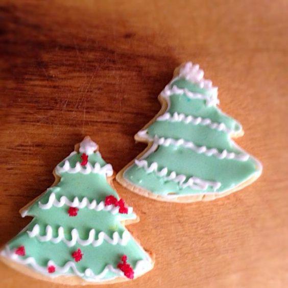 生クリームとチーズで楽しくに参加中 - クリスマスクッキー