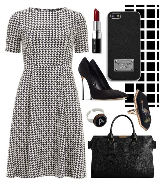 """""""Independence"""" by agonyfeelsgood ❤ liked on Polyvore featuring Dorothy Perkins, Casadei, Bobbi Brown Cosmetics, Burberry, Rock 'N Rose and MICHAEL Michael Kors"""