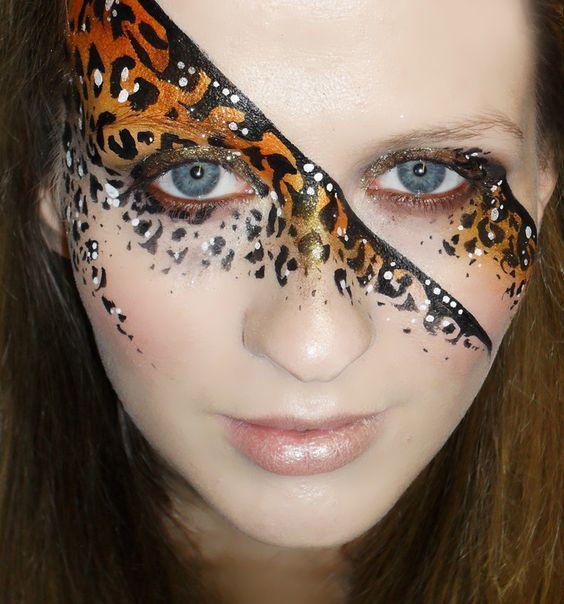 Leopard face paint, Leopard prints and Leopards on Pinterest