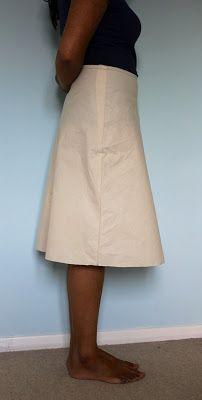 Self drafted bias skirt
