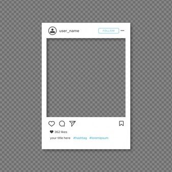 Download Instagram Frame Template For Free Instagram Frame Template Instagram Frame Instagram Frame Photobooth