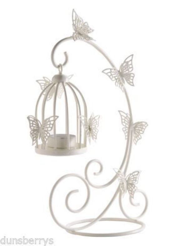 10 hanging butterflybirdcage tea light holder wedding centrepiece 10 hanging butterflybirdcage tea light holder wedding centrepiece decoration in home furniture junglespirit Image collections