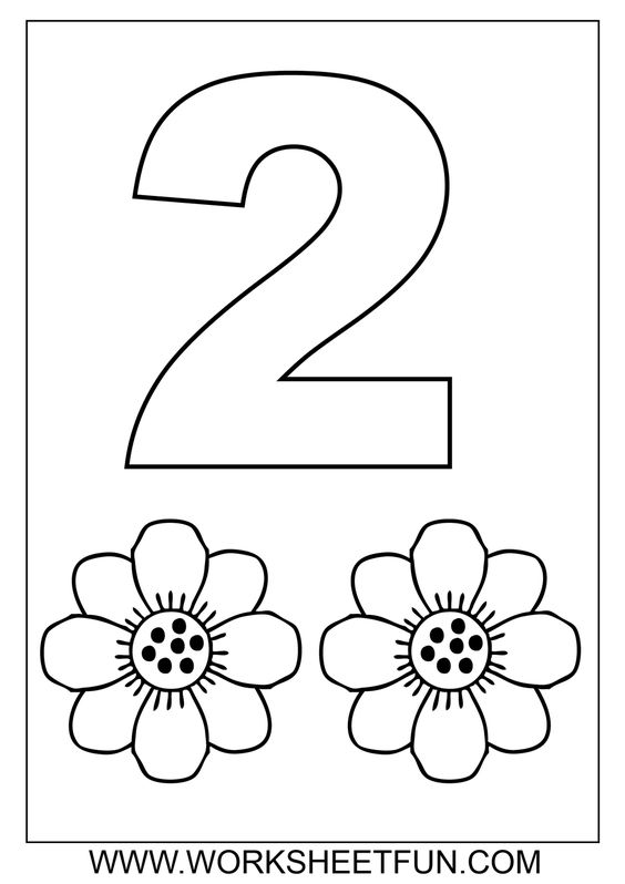 Preschool Number Coloring Pages | Download Coloring Page: