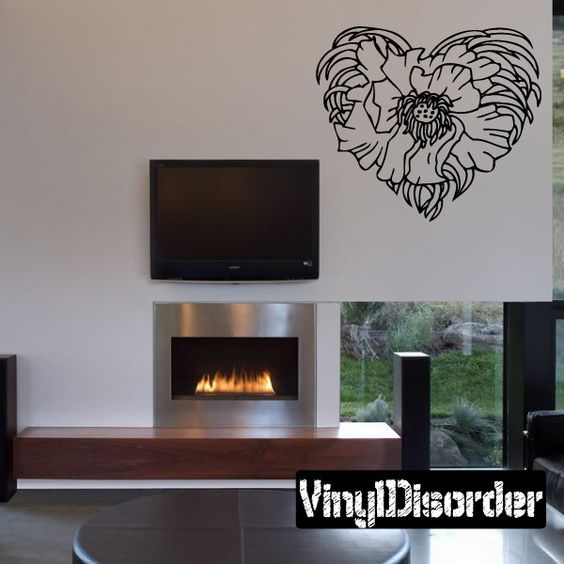 Rose Wall Decal - Vinyl Decal - Car Decal - DC 23022