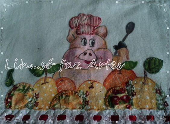 http://inovartartesanatosemeva.blogspot.com.br/2014/02/patch-colagem-patch-aplique-com-pintura.html  porquinho com laranjas pintura em tecido com patch colagem