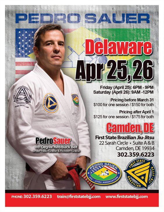 Annapolis Brazilian Jiu Jitsu - Pedro Sauer Seminar at Garfield MMA Affiliate School, 1st State BJJ.