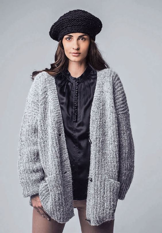 Lana Grossa JACKE MIT HALBPATENTMUSTER Garzato Fleece - DIE MASCHE 2014 Folder - Modell 2 | FILATI.cc WebShop