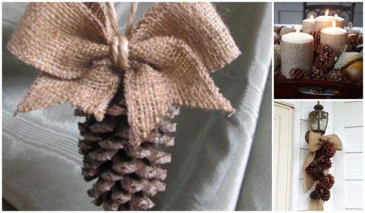 Ideas para decorar en navidad con pi as de pino tarjetas - Decorar pinas naturales ...