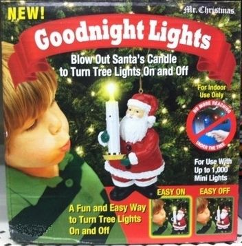 Mr. Christmas Goodnight Good Night Light Santa Tree Candle Ornament Controller | eBay