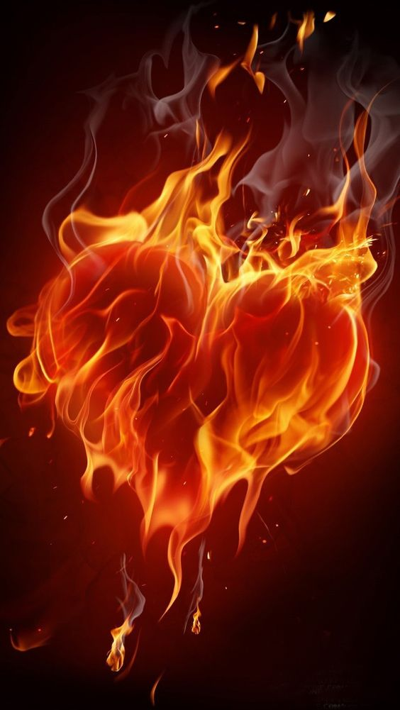 My Iphone Wallpaper The Top Rated Wallpaper I Just Liked Fire Heart Fire Art Airbrush Art