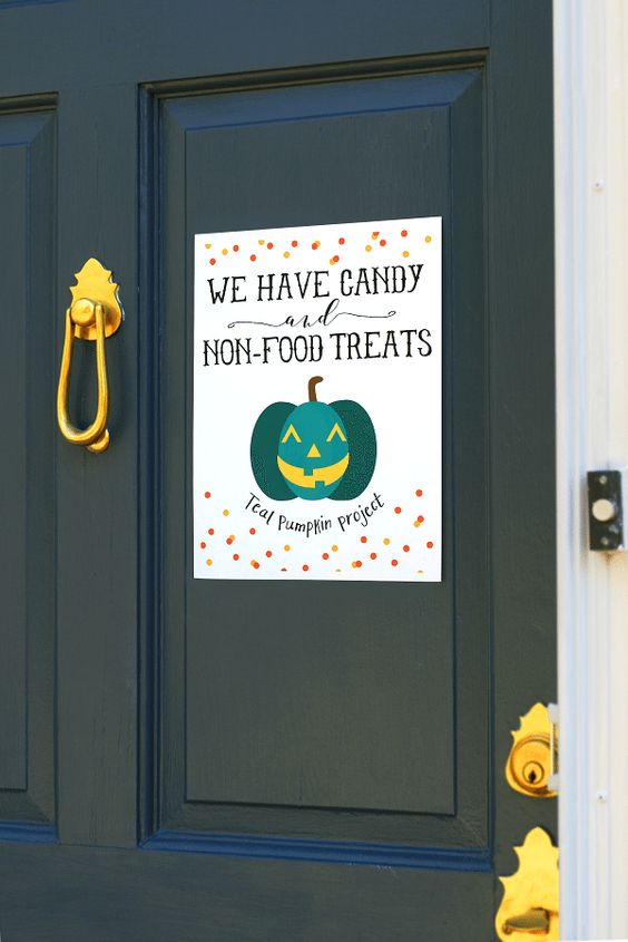 Allergy-Safe Teal Pumpkin Project Halloween Free Printables