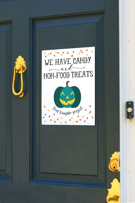 Allergy-Safe Teal Pumpkin Project Halloween Free Printables
