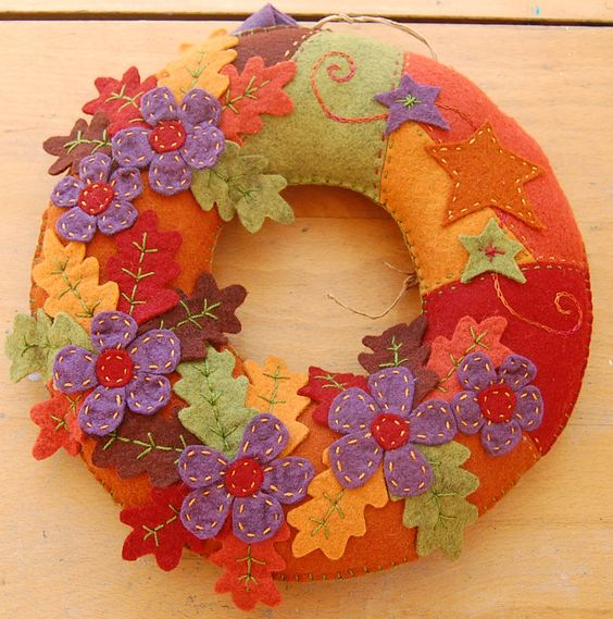 Gorgeous autumn colors on wreath