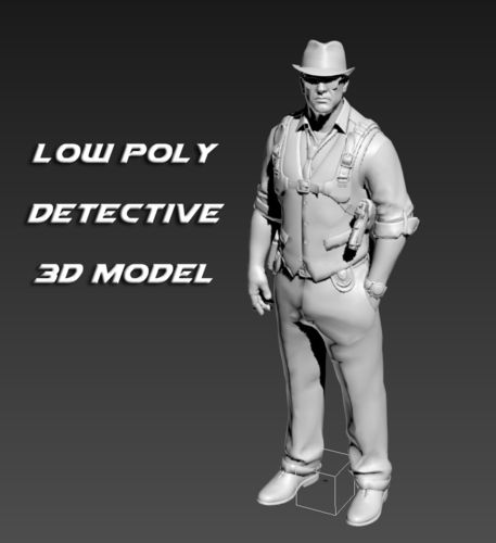 male detective 3d model. This royalty free 3D model or texture is available for download now!  Human model of a male detective.     Available formats:  *...