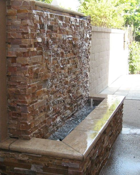 30 Relaxing Water Wall Ideas For Your Backyard Or Indoor Water Feature Wall Water Fountains Outdoor Indoor Water Fountains