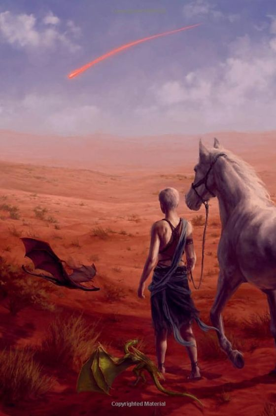 A Clash of Kings: The Illustrated Edition - Daenerys Targaryen in the Red Waste by Lauren K. Cannon The Dothraki named the comet shierak qiya, the Bleeding Star. The  old men muttered that it omened...