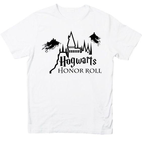 Harry Potter Hogwarts Honor Roll for 2X-Large White men T shirt