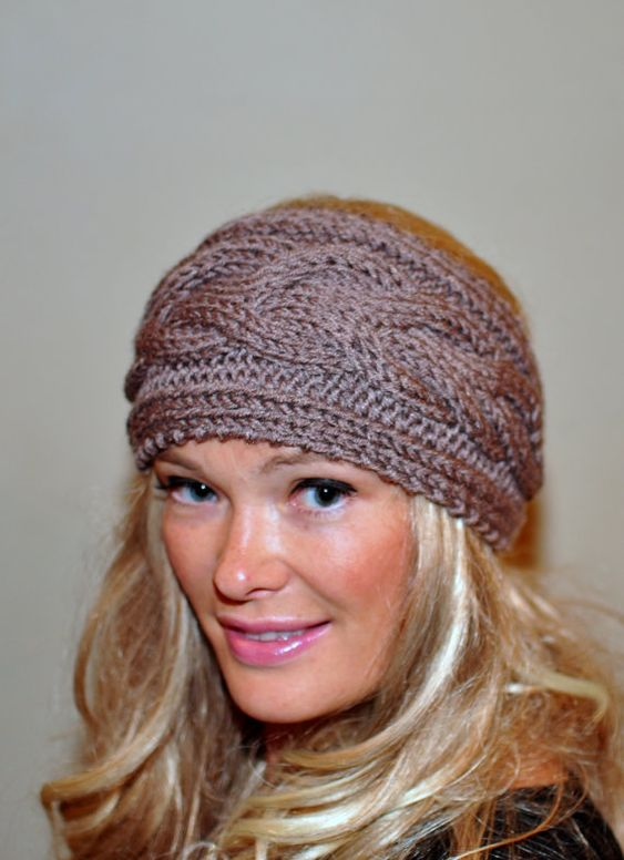 earwarmer cabled cabled ear and more ear warmers crochet headbands ...