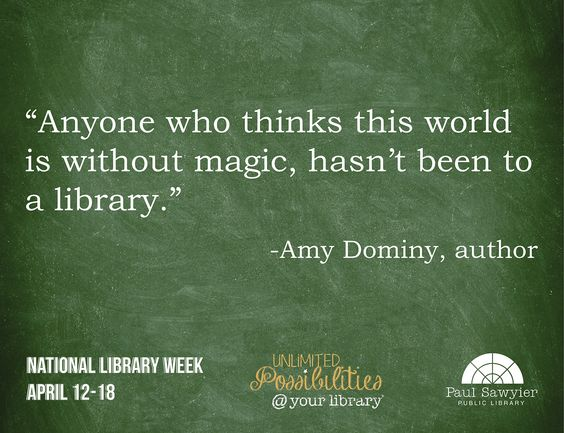 National Library Week #NLW: