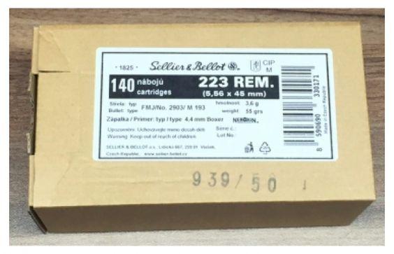 S&B .223 Rem. 55 grs FMJ 140 Stk. Schüttpackung