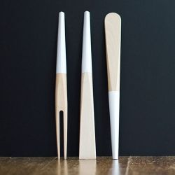 Gigodesign's beautiful work for Leis Wooden kitchen utensils.