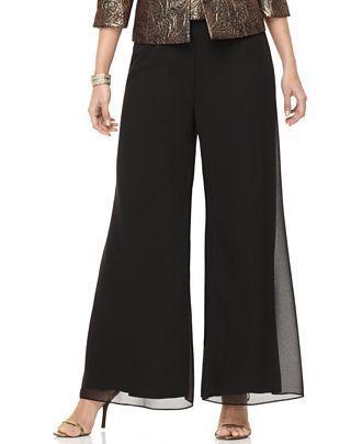 Wide leg pants, Plus size dresses and Plus size pants on Pinterest