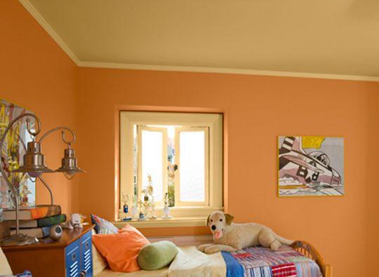Travis Room Paint Colors Benjamin Moore Soft Pumpkin