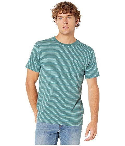 RVCA Mens Short Sleeve Green Sugar Shirt