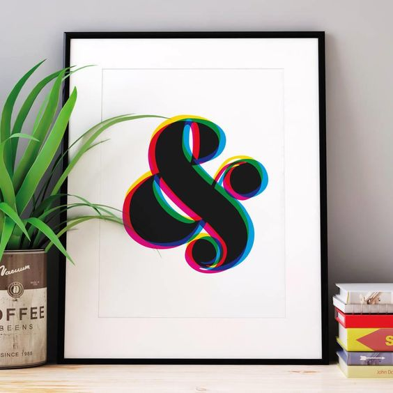 Ampersand http://www.notonthehighstreet.com/themotivatedtype/product/ampersand-colour-giclee-typography-print @notonthehighst #notonthehighstreet