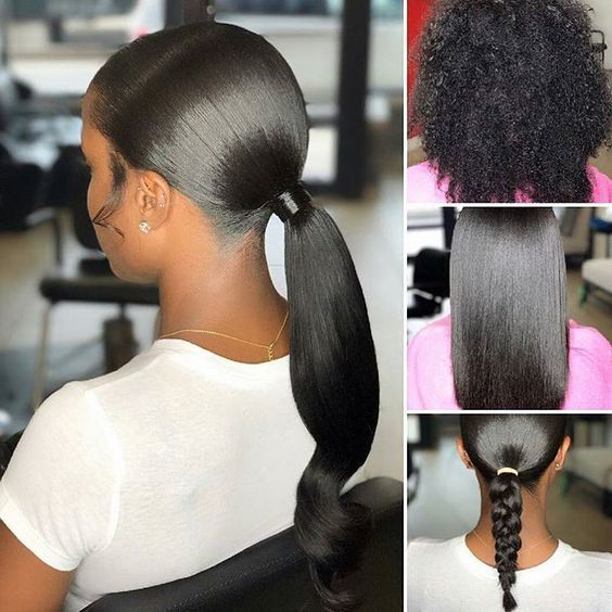 How Long Does A Silk Press Last 5 Keys To Making It Last Longer Voice Of Hair Weave Ponytail Hairstyles Natural Hair Styles Ponytail Hairstyles