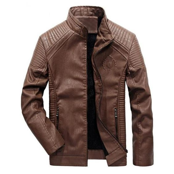 Men's bike rider style warm leather Jacket - Priority Global