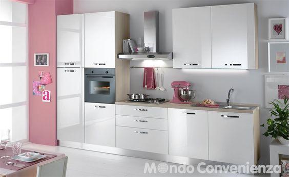 Cucina sara cucina bloccata composizioni bloccate for Cucina like mondo convenienza
