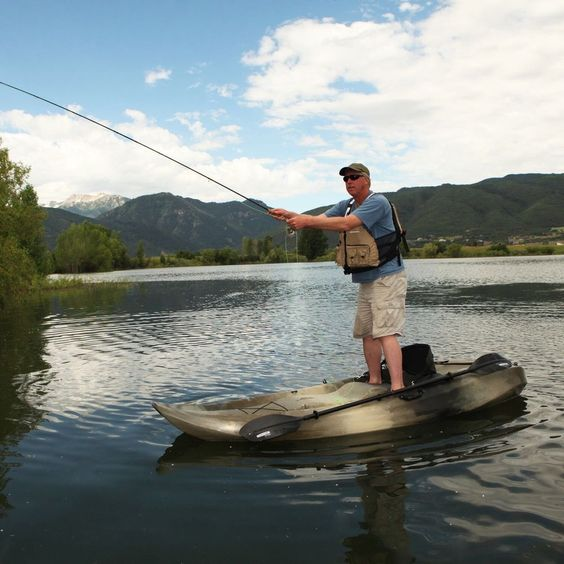 Fishing kayak boat 10 39 camouflage 2 person sport fisher for Two man fishing boat