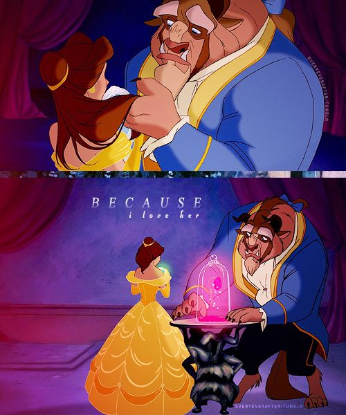 Beauty And The Beast, The Beast And Love Her On Pinterest