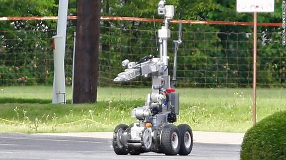 Robot's role in killing Dallas shooter is a first.  Dallas police turned to a robot rather than putting officers in harm's way.