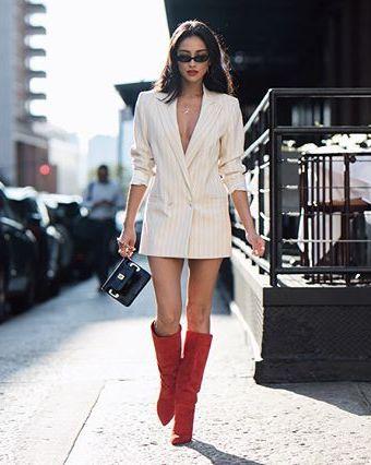 copie le look Habille-toi comme Shay Mitchell: la robe blazer sexy !