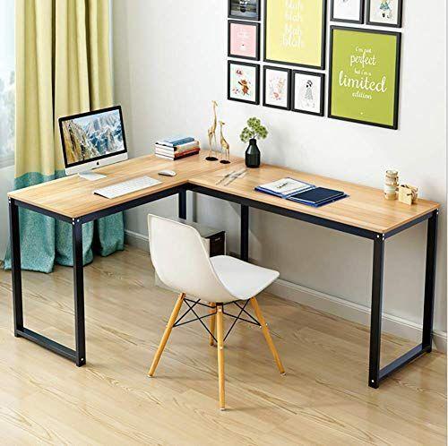 Amazon Com L Shaped Home Office Corner Desk Wood Top Pc Lap In