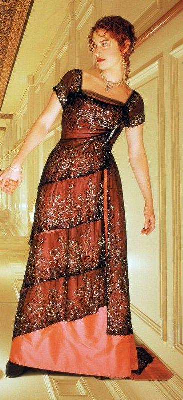 Kate Winslet in 'Titanic' - Costume Designer: Deborah L. Scott #dressmaking #calicolaine: