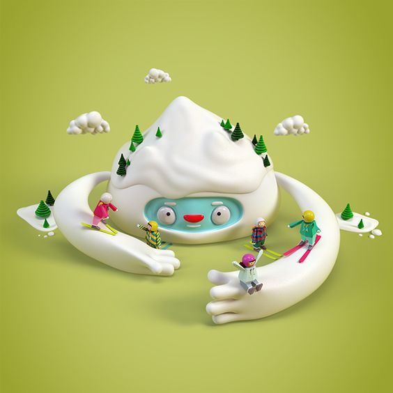 French Federation of Ski 2014/15 Campaign by Benoit Challand, via Behance