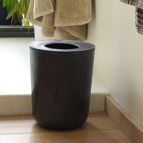 Ekobo Bano Waste Bin Black Bathroom Waste Bins Bathroom Trash Can Symple Stuff