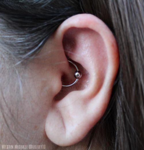 """A fun daith from this weekend using a 16g ½"""" high polish ring from the one and only @anatometalinc .✨ #anatometal #westinmichael #westinsportfolio #icon"""